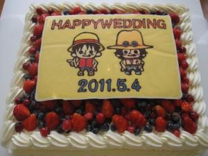 ワンピースケーキ!
