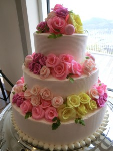 新婦母のウェディングケーキ♪