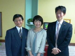 村上教授&福田さんと スタジオにて