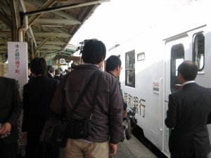 ラッピング列車出発式②