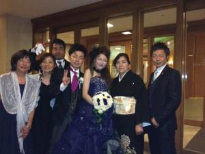 隼平さんしおのさんご家族と